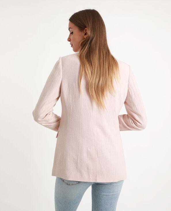 Blazer double boutonnage rose pâle