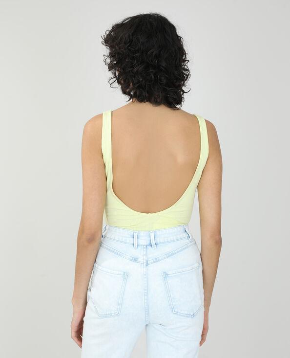 Body côtelé jaune - Pimkie