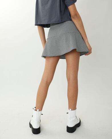 Jupe-short motif pied-de-poule noir - Pimkie