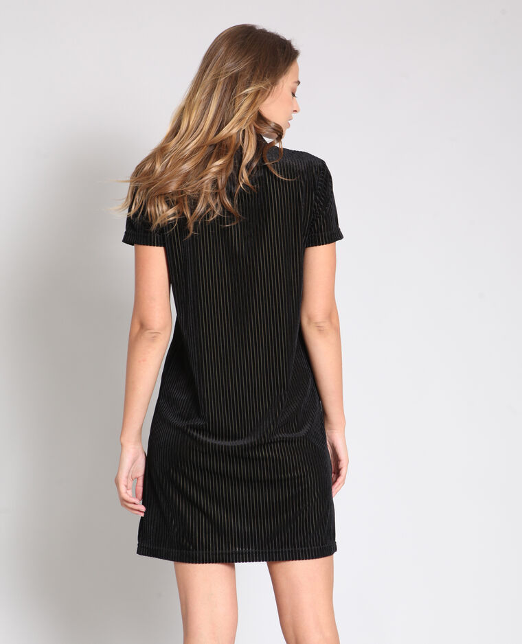 Robe à manches courtes noir