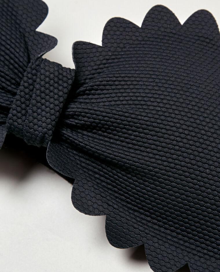 Bandeau pétales noir