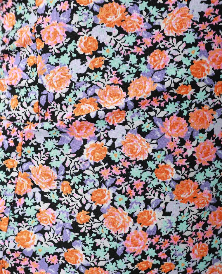 Robe fourreau fleurie noir - Pimkie
