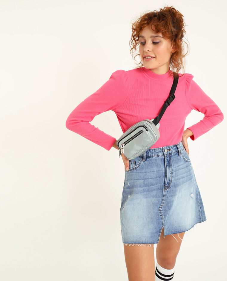 T-shirt manches longues rose fuchsia - Pimkie