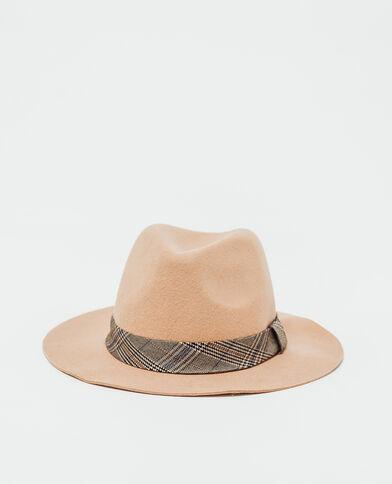 Chapeau en feutrine camel