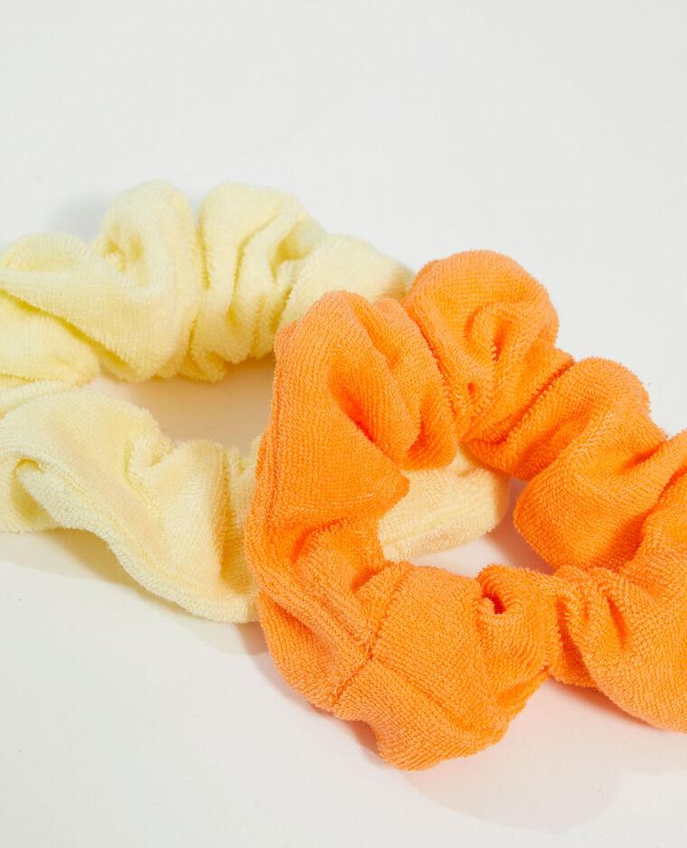 Lot de 2 chouchous en éponge orange - Pimkie