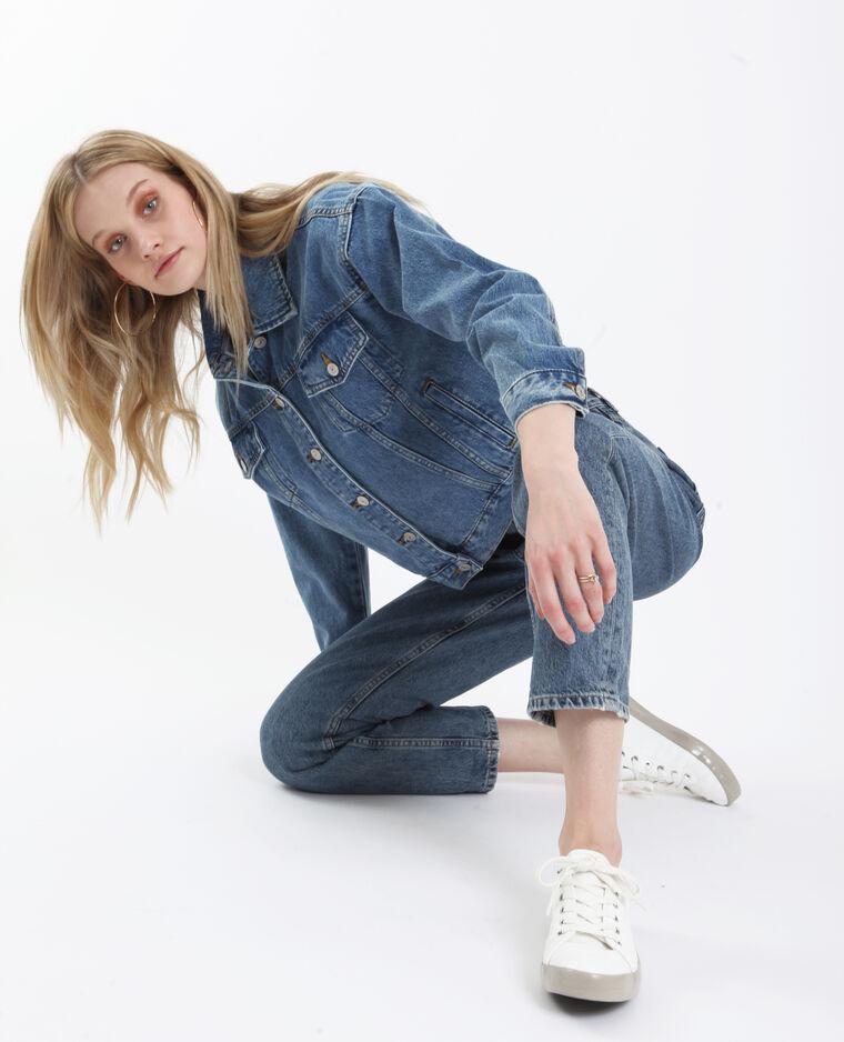 Veste en jean oversize bleu délavé