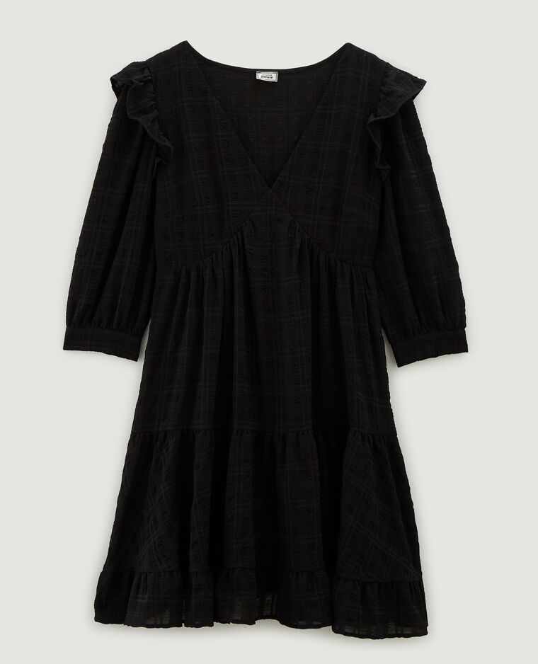 Robe fluide volantée noir - Pimkie