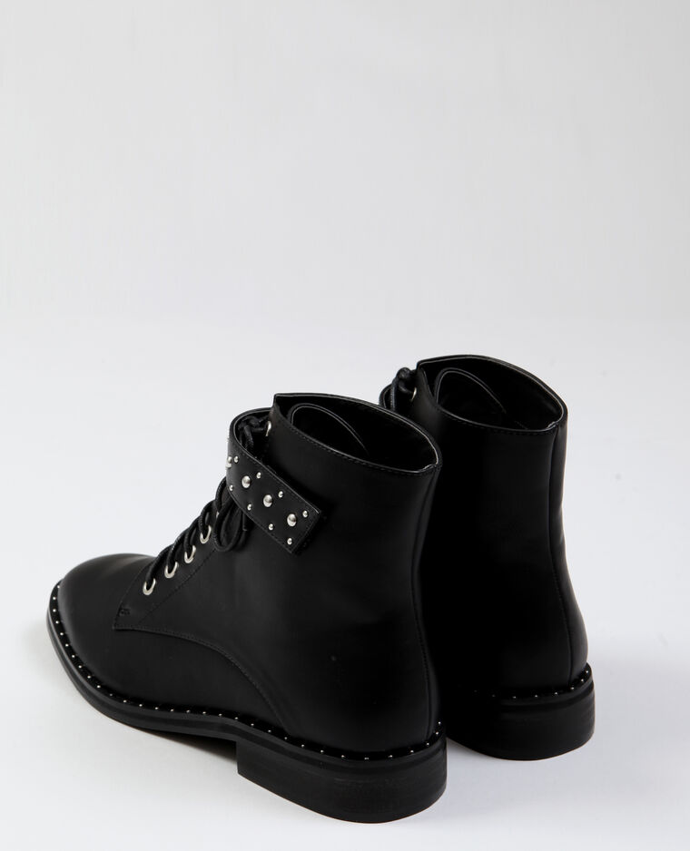 Boots à clous noir