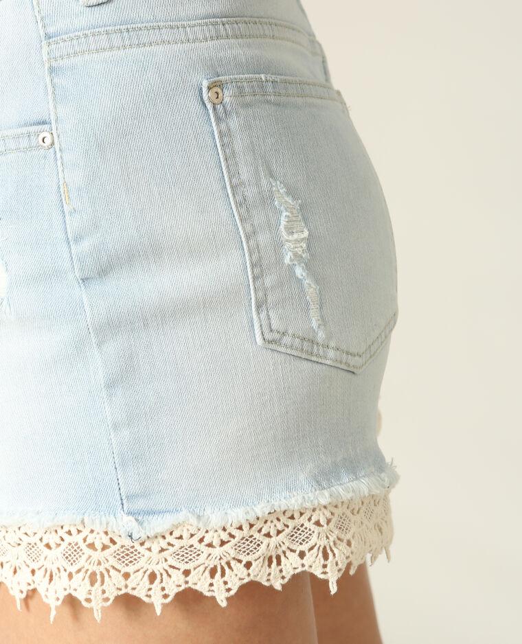 Short en jean dentelle