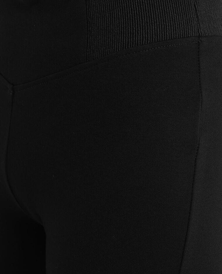 Fuseau taille élastiquée noir
