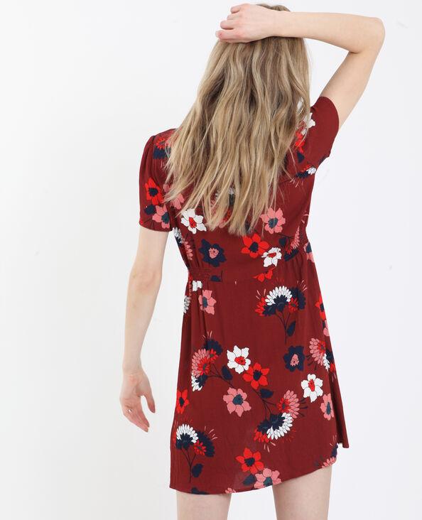 e464a071ecc Robe à imprimé fleuri rouge