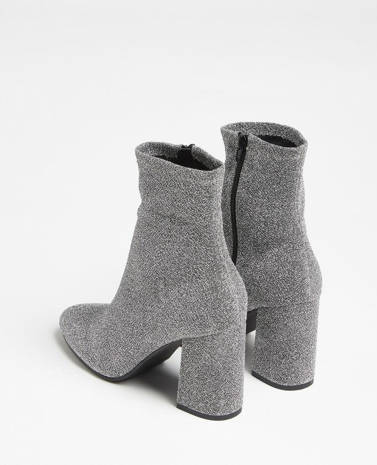 Boots en microfibre gris argenté - Pimkie