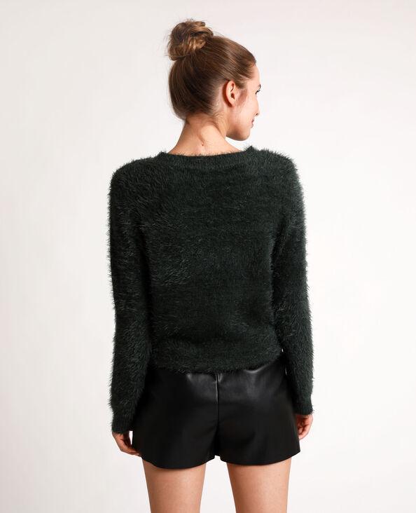 Pull fluffy vert - Pimkie