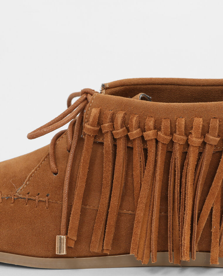 Bottines frangées marron