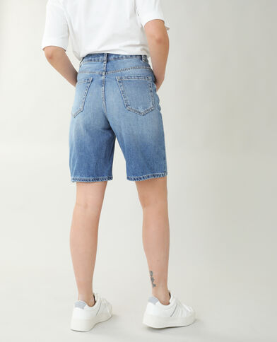 Bermuda en jean high waist bleu denim