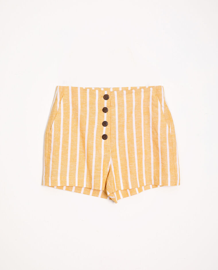 Short à rayures jaune - Pimkie