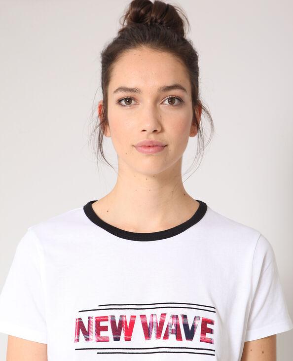 T-shirt New Wave blanc
