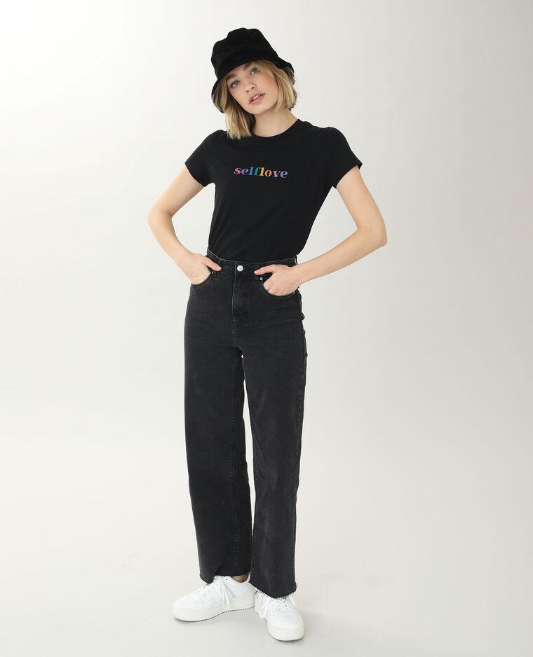 T-shirt manches courtes noir - Pimkie
