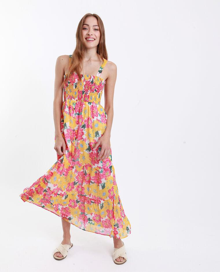 4286ffa899d Robe longue fleurie jaune - 781255A90E0A