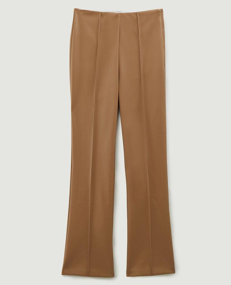 Pantalon flare en simili cuir beige - Pimkie