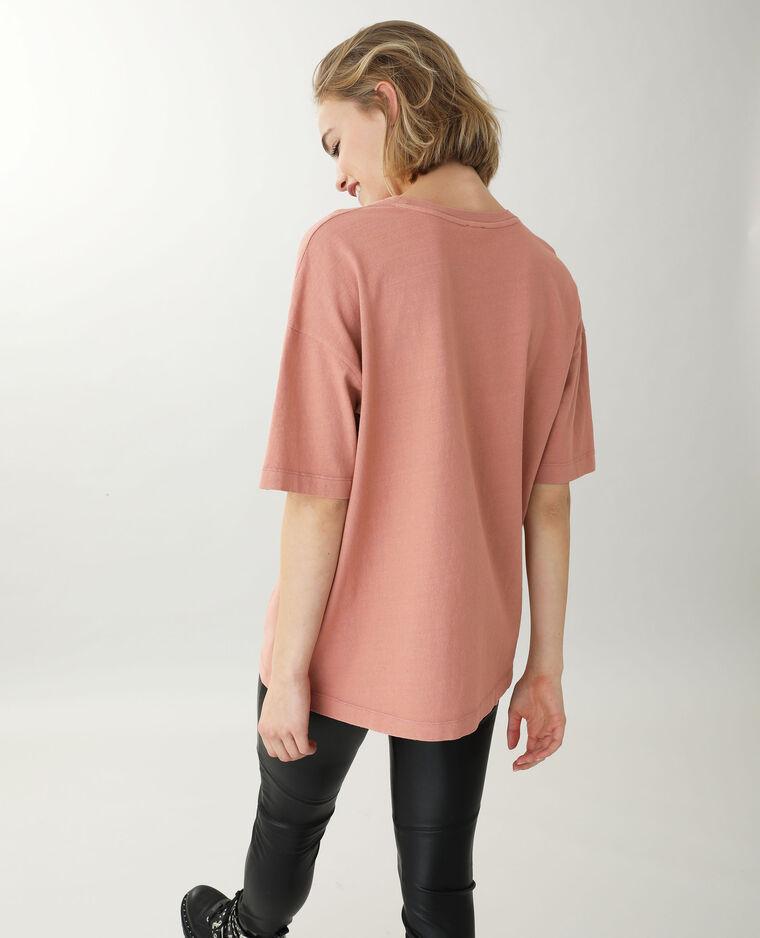 T-shirt manches courtes rose