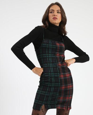 Robe courte bi-motif noir - Pimkie