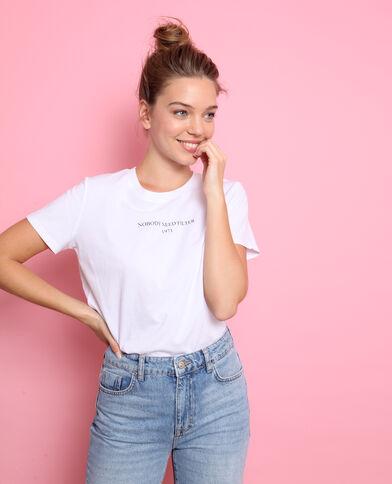 T-shirt à message blanc bf02a1469f98