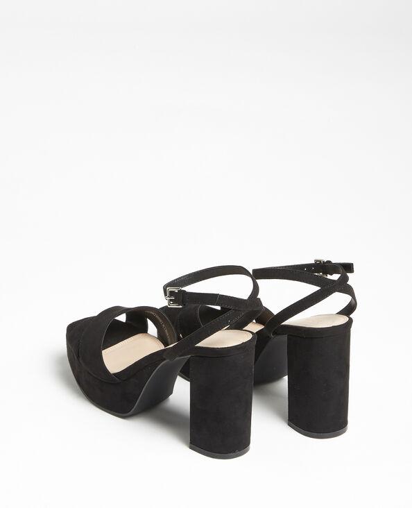 Sandales plateforme noir