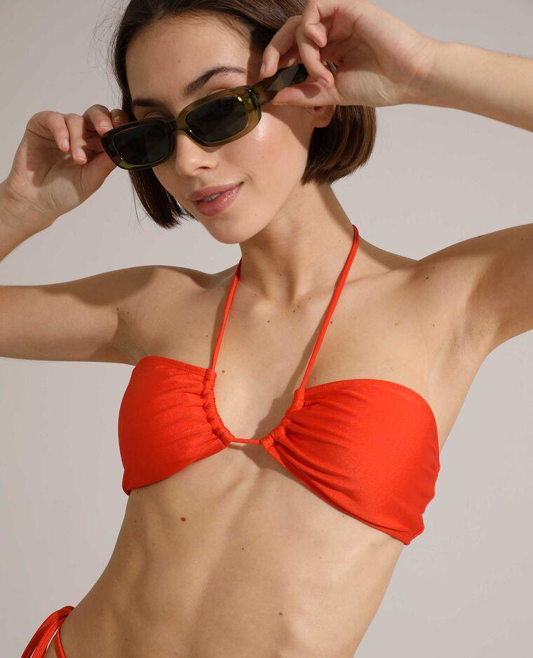 Haut de maillot de bain bandeau transformable orange - Pimkie