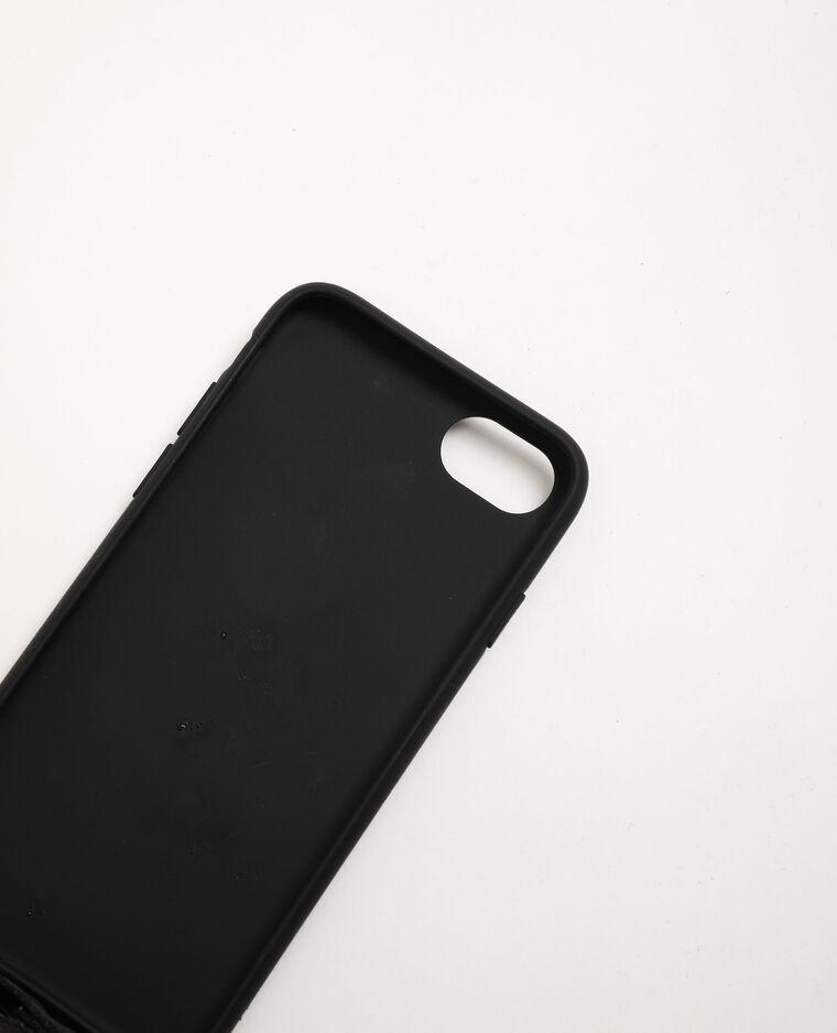 Coque compatible iPhone avec bandoulière noir
