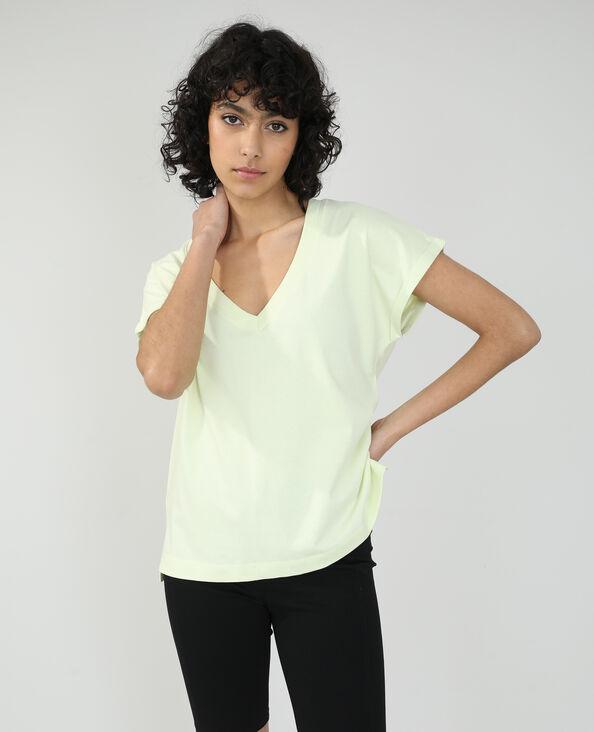 T-shirt basique oversize jaune pâle - Pimkie