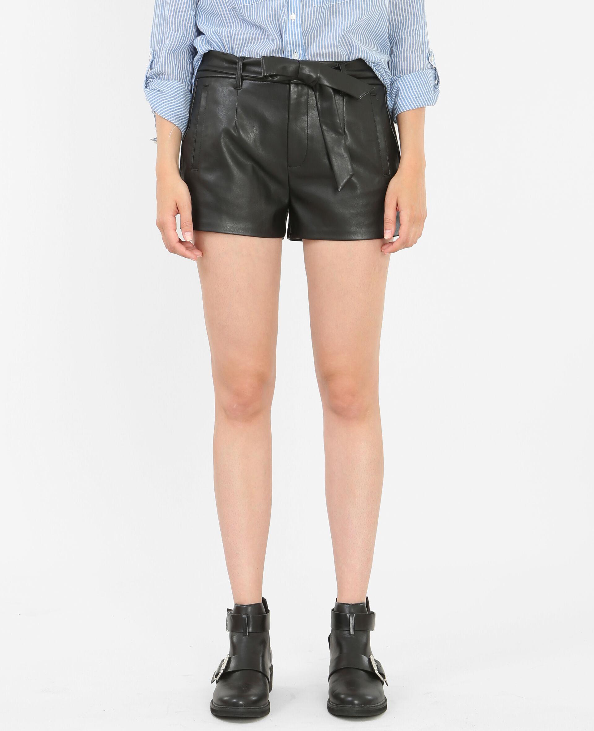 Short simili cuir noir - 150115899A08 | Pimkie