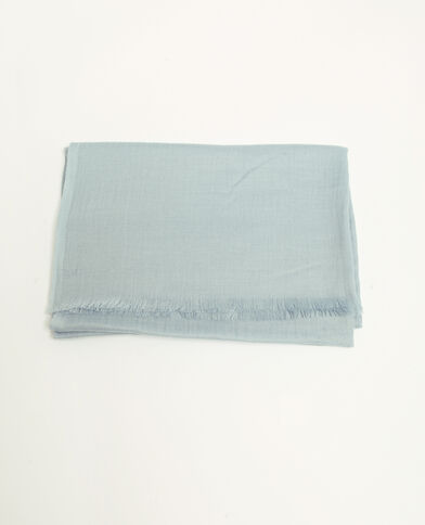 Foulard bleu glacier bleu