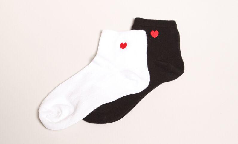 Lot de chaussettes à cœur blanc
