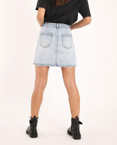Jupe en jean bleu clair