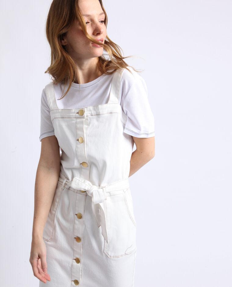 Robe en jean blanc