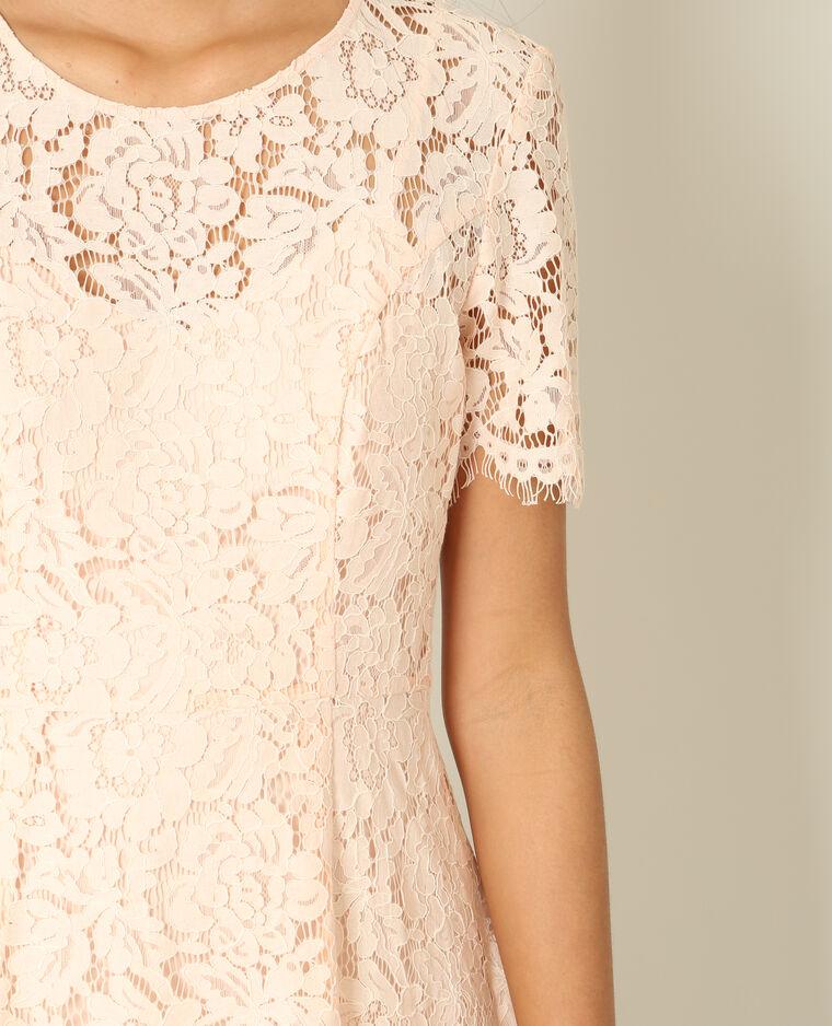 Robe dentelle rose pâle - Pimkie