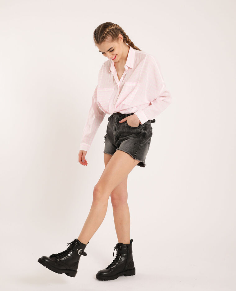 Chemise oversized à rayures blanc - Pimkie