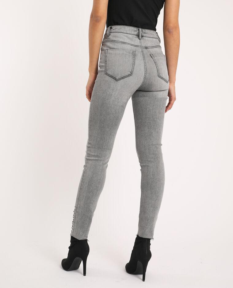 Jean skinny high waist gris - Pimkie