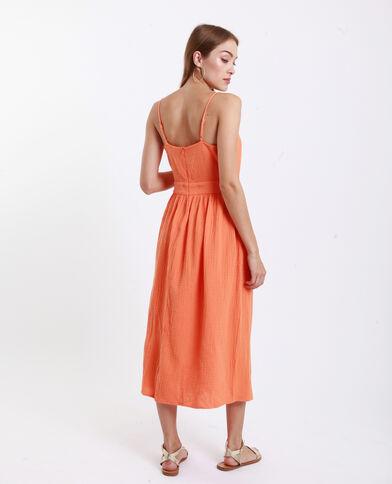 fd224b9a2e2 Robe nœud poitrine orange