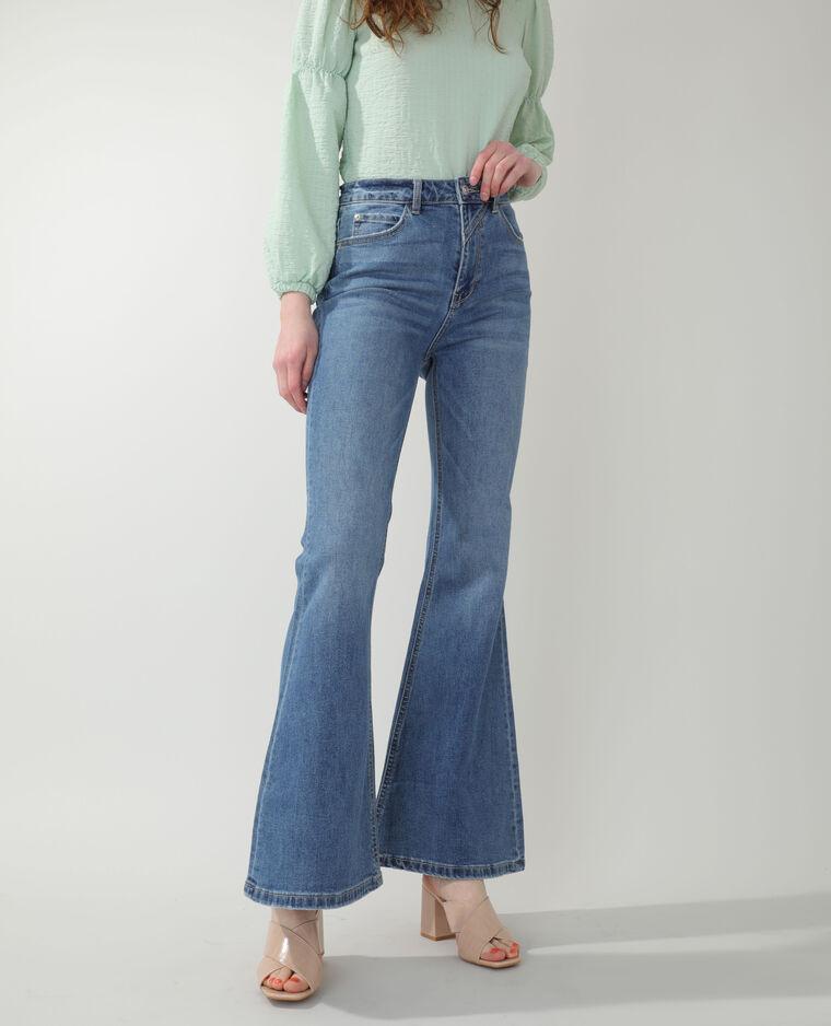 Jean flare high waist bleu denim - Pimkie
