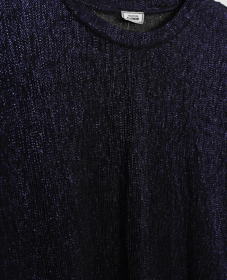Top pailleté violet