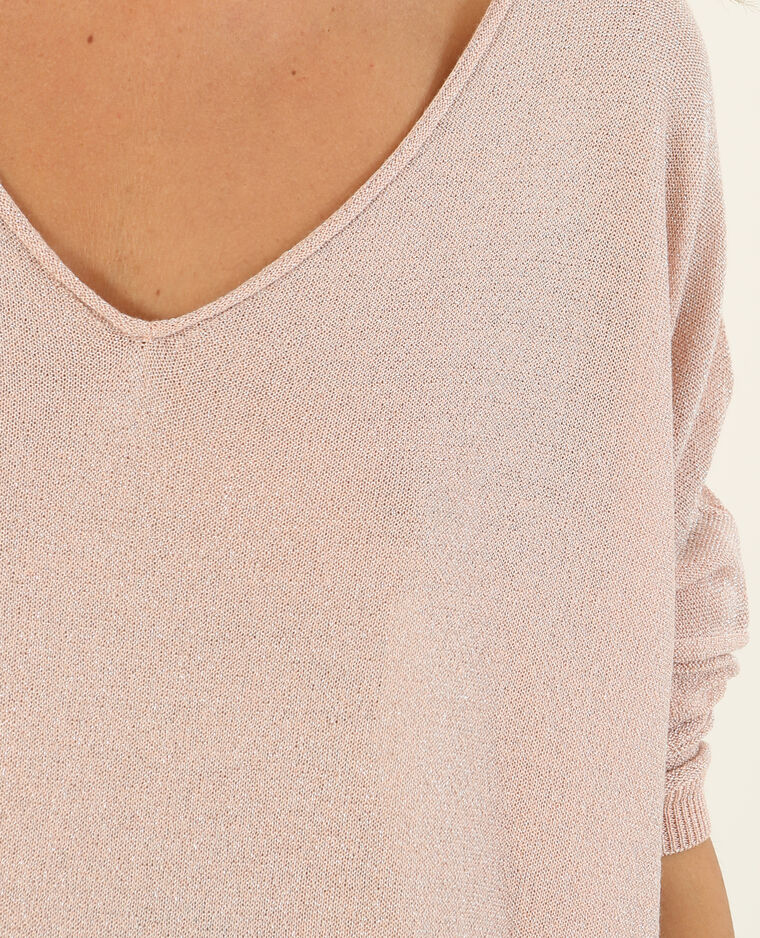 Pull en lurex rose