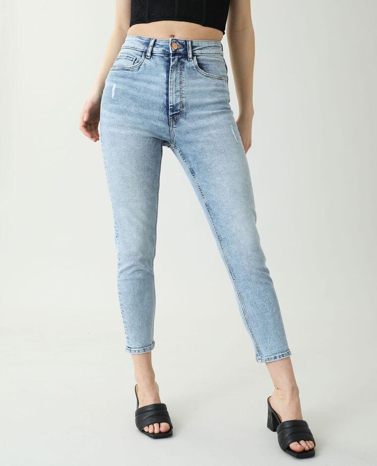 Jean skinny high waist bleu clair