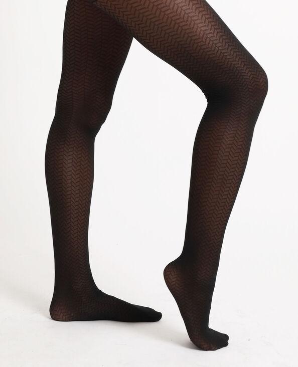 Collants à zig zag noir