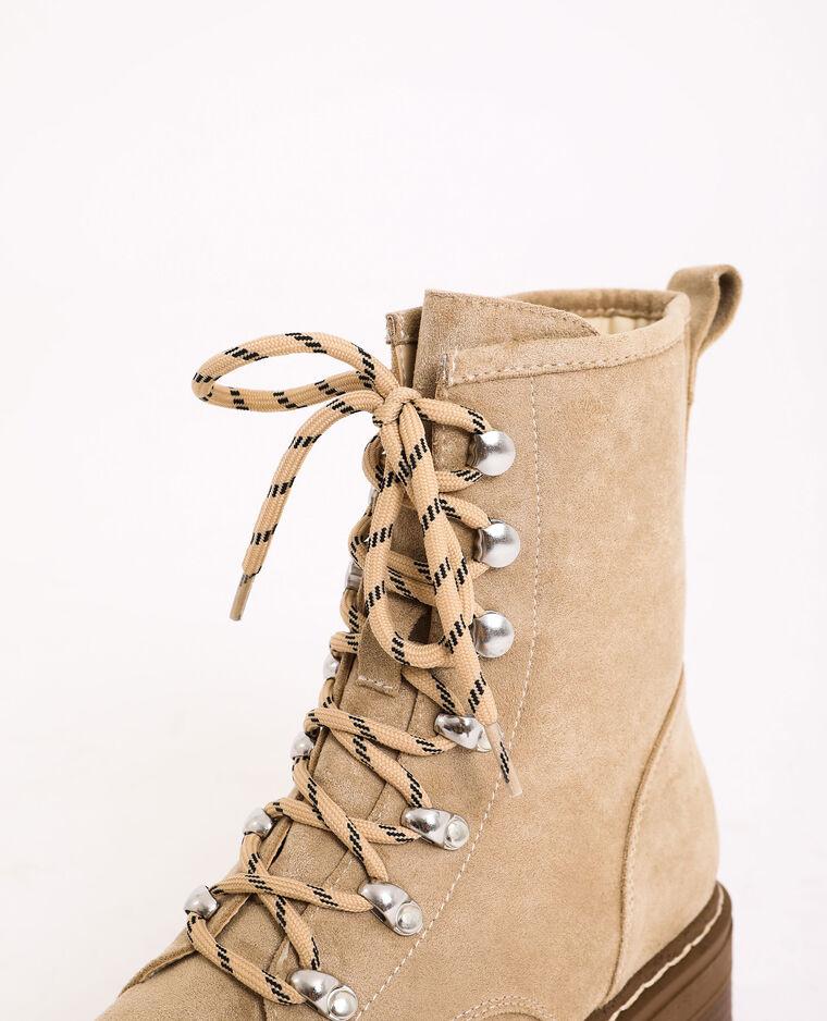 Boots montantes marron