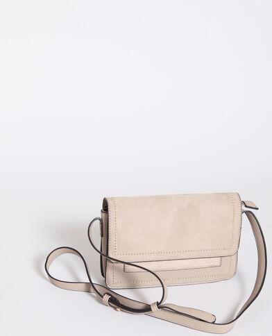 Petit sac en faux cuir marron