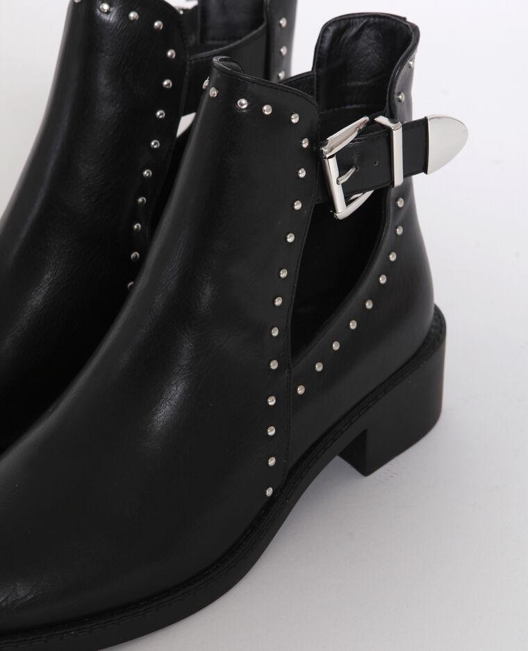 Boots en simili cuir noir