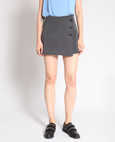 Jupe short gris anthracite