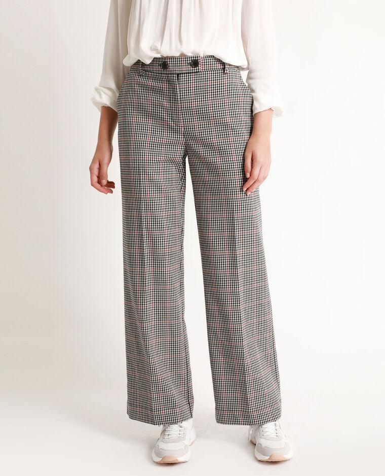 Pantalon à jambes larges marron